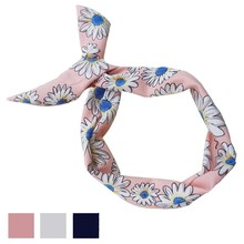 Headwear Rabbit Ear Shape korean 2017 New Fashion accessoire cheveux Hair Hoop cute flower Printing  Hair Band p2s