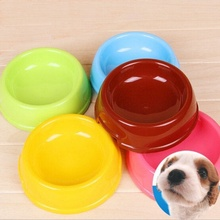Durable Lovely Pets Plastic Bowl Feed Dish Pubby Drinking Bowl for Small Dog or Cat Food Box colorful wholesale(China)