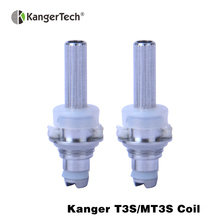 10pcs/lot! original kanger t3s mt3s dual coil cc clear cartomizer coil unit Replacement Heating Coil Head For Kanger Atomizer