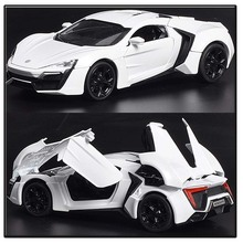 Collection Car Models 1:32 Lykan Hypersport Diecast Car Model Pull Back Toys For The Fast and the Furious 7 Hobbies Vehicles