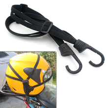 Practical Moto Luggage Helmet Net Rope Cable Belt Bungee Cord Elastic Strap Cable with Hooks Motorcycle String Bag Accesories(China)