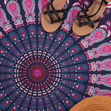 Round Beach Towel Cotton Microfiber Mandala Custom Personalized  Bohemia Microfiber Cheap Beach Towel for Adults tapestry