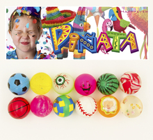 12Pcs 32mm Assorted High Bounce Rubber Ball Medium Bouncy Ball Pinata Fillers Kids Toy Party Favor Bag Gifts Treat Bag Goody Bag(China)