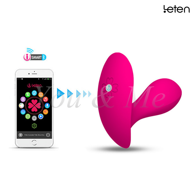 New Leten Smartphone App Remote Control Lucy Butterfly Famale G-Spot and Clitoral Vibrator Waterproof Sex Toys For Woman<br>