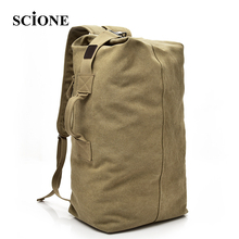 SCIONE  Large Capacity Backpack  Multifunctional  Travel  Bags  Unisex Canvas  Bagpacks  High Quality  Casual  Rucksack NN012