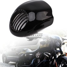 Black Motorcycle Front Cowl Fork Mount Headlight Fairing Visor Grill Mask for Harley Sportster Dyna XL FX 883 Free Shipping