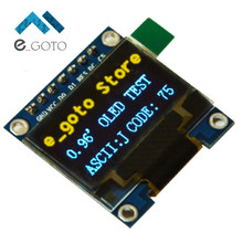 "0.96 inch IIC SPI Serial 128X64 Yellow Blue OLED Display Module I2C LCD Screen Board 0.96"" SSD1306 for Arduino/stm32/51(China)"