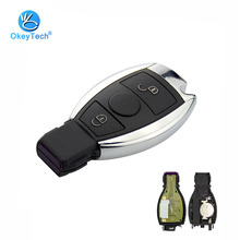 OkeyTech Benz Remote Control Key 315/433Mhz Smart Key Fob 2 Button Mercedes Benz Support NEC/BGA Insert Small Blade