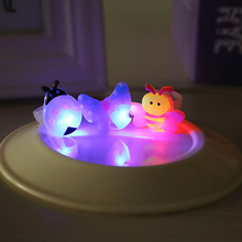 10pcs Kids Cartoon LED Flashing Light Up Glowing Finger Rings Electronic Birthday Party Gifts Toys for Boys Girls Children(China)