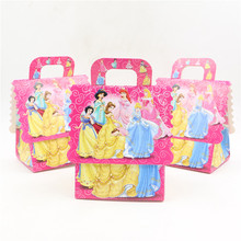 10pcs\lot Happy Birthday Party Princess Gifts Decoration Boxes Candy\Chocolate  Box Baby Shower Kids Favors Events Supplies