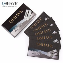 Qshave Double Edge Safety Razor Blade Classic Safety Razor Blade Straight Razor Titanium Blade Made in USA, 5 Blades(China)