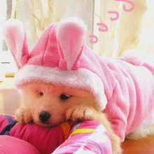 Easter Bunny Pet Dog Costume Clothes Hooded Coat Clothing for Dogs Fleece Cat Puppy Warm Rabbit Dressing Up Outfit 21(China)
