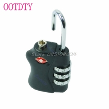 New TSA Resettable 3 Digit Combination Travel Luggage Suitcase Lock Padlock BK #S018Y# High Quality