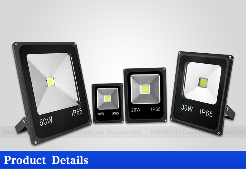 IMINOVO LED 110V 220V Flood Light 10W 20W 30W 50W Wall Lamp Spotlights Outdoor Lighting Waterproof IP65 For Square Garden Yard