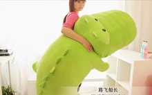 big plush light green crocodile toy stuffed cartoon Chinese alligator pillow birthday gift about 150cm