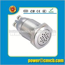 TY 16109 IP67 16mm DC12V/24V AC110V/220V flat round buzzer metal high quality buzzer