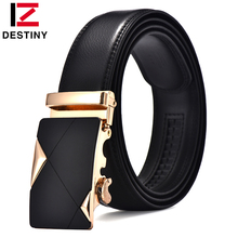DESTINY famous brand genuine leather belt men automatic buckle strap male wedding jeans luxury designer ceinture homme brown red