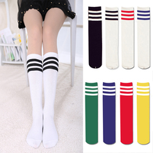 Women long tube three/3 thick striped socks colorful student Korea college style socks fashion sexy sister Female model socks