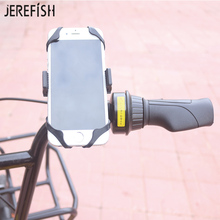 JEREFISH Bike Motorcycle Phone Holder Secure Brand Clip Grip Bicycle Handlebar Phone Mount Bracket for iPhone8 7 Sansung Galaxy(China)