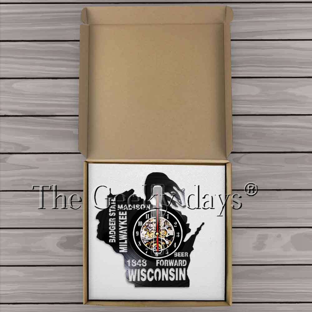 acheter wisconsin badger État bière wall decor vinyle record horloge