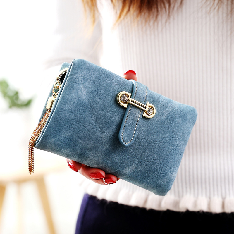 2017 Women Wallets Fashion Tassel Pendant Wallet Women Short Coin Purse Holders Retro Wallet and Purses portfolio Nubuck Leather<br><br>Aliexpress