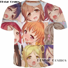 Buy PLstar Cosmos 2017 summer new Fashion 3d t-shirt Ahegao print Anime t shirts Harajuku Face Red Woman Pleasure T Shirts Sexy Tees