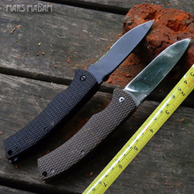 MARS MADAM grid lines Non-ship G10 Tactical Folding Knife 9CR18MOV Steel High hardness Survival Pocket Knife Army knife