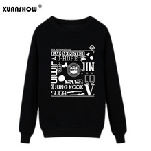 2017 New Women Sweatshirts Hip Hop BTS Bangtan Boys Fans Clothing Women Pullovers Hoodies