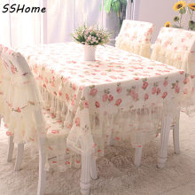 Rustic flowers lace tablecloth fabric lace table cloth dining tablecloth chair covers set fresh tablecloth