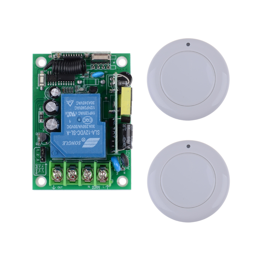 AC85V 110V 220V 250V 3000W RF Wireless Remote Control Lighting Switch System With 2PCS White Transmitter For Smart Home<br><br>Aliexpress