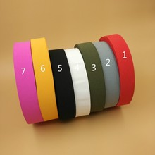 "1.5"" 38MM Width 7 Solid Colorful Elastic Band Webbing For DIY Clothes Bags 5 Meters Bias Sewing DIY Craft Clothes Accessories(China)"
