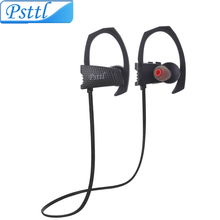 Psttl 24g Sweatproof Wireless Bluetooth Earphone in ear Sport Stereo headset handfree with Microphone for phone computer outdoor(China)