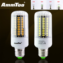 5736 SMD LED Lamp Corn Bulb E27 E14 E12 E17 3W 5W 7W 9W 12W 15W Led Bulb Light 85-265V 110V 220V Ampoule Led Crystal Chandeliers(China)