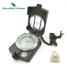 Boundless Voyage Outdoor Camping Multifunctional Lensatic Compass Prismatic Sighting Compass Survival Gear Compass BVC06(China)