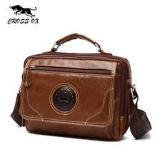 CROSS OX 2017 Summer New Genuine Leather Cowhide Men's Messenger Bag Shoulder Bags For Men Satchel Handbag Briefcase SL400M(China)