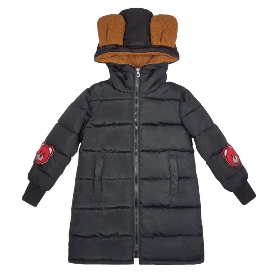 2017 Christmas Children Clothes Girls Jacket Winter Jackets For Girls Coat and Jacket Kids Long Style Hooded Warm Outerwear <br>