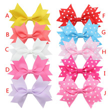 Wholesale Grosgrain Ribbon HairBow for Baby Girl Boutique Hairclips children Hair Bow With Clip Kids Hair Accessories 400pcs/lot(China)