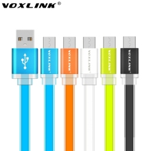 VOXLINK 1m/2m/3m Universal Flat Noodle Micro USB Charger Sync Data Cable for Samsung HTC LG Sony huawei xiaomi Android Phones