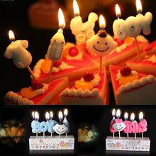 1set Birthday Cake Cartoon Candles Decoration Boy Girl Letters Bottle shape for Boy Girl Kids Gifts happy birthday party s2