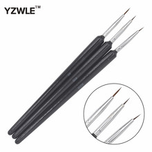YZWLE 3PCS/1Set Kolinsky Acrylic Nail Brush Professional Brushes Nail Tools Fashion Nail Art Brush for Manicure 14