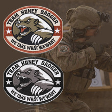 New Team Honey Badger Military Tactical Army Morale Combat Multicam Patch(China)