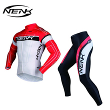 LANCE SOBIKE Long Sleeve Cycling Jersey Men Breathable 3D Padded Sportswear Mountain Bicycle Bikes Apparel Cycling Clothing