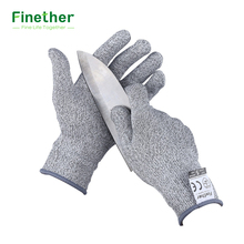 Finether Cut Resistant Gloves EN388 Level 5 Anti-resistance and CE Certified Garden Safety Working Protective Gloves for Work(China)