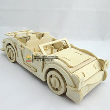 Cool sports car 3d wooden puzzles wood jigsaw puzzle toys children model adult home furnishings
