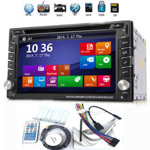 Double 2Din HD Touch Screen Car Stereo DVD Player GPS Nav Radio Bluetooth+Camera