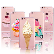 Donuts Macaron Pattern Cases Cover  For Apple iphone 4 4s 5 5s SE 5C 6 6s 6 plus funda Soft Sillicon Transparent TPU Phone cases