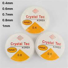20 Meters 0.4 0.6 0.7 0.8 1mm Spool of Crystal Clear Stretch Elastic Beading Wire/Cord/String/Thread