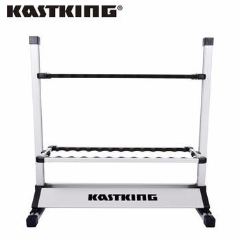 Kastking 24 varillas de caña de pescar titular de rack de almacenamiento soporte de garaje organizador ahorro de espacio, diseñado Para Sostiene Cualquier Tipo de Barras