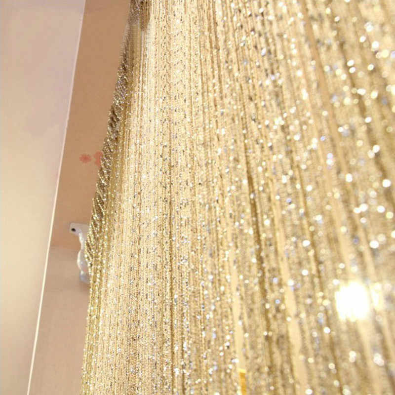 200x100 cm Luxury Crystal Curtain Flash Line Shiny Tassel String Door Curtain Window Room Divider Home Decoration cortinas