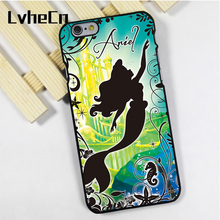 LvheCn phone case cover for iPhone 4 4s 5 5s 5c SE 6 6s 7 8 plus X ipod touch 4 5 6 back skins ARIEL MERMAID PRINCESS BLUE GREEN(China)